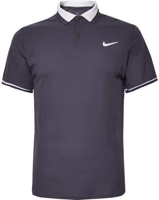 Nike Tennis - Nikecourt Advantage Dri-fit Polo Shirt - Gray