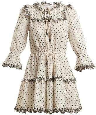 Zimmermann Jaya Linen Dress - Womens - Cream Multi