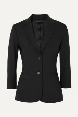 The Row Schoolboy Stretch Wool-blend Crepe Blazer - Black