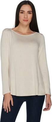 Halston H By H by Super Soft Knit Boatneck Longsleeve Top