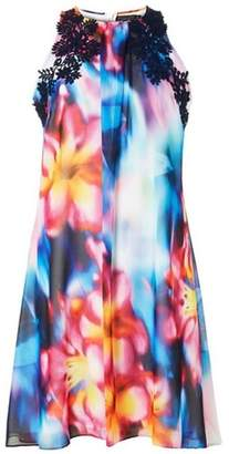 Dorothy Perkins Womens **Showcase Multi Coloured Tropical 'Lily' Trapeze Dress
