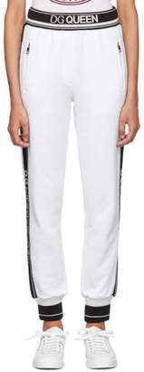 Dolce & Gabbana White Queen Lounge Pants