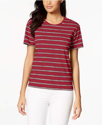 Lacoste Striped Cotton T-Shirt