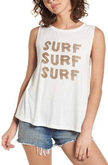 Women's Roxy Surf Graphic Muscle Tank