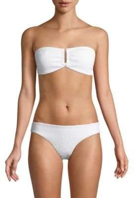 Onia Genevieve Textured Bikini Top