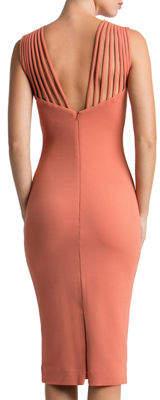 Dress the Population Gwen Banded-Shoulder Cocktail Dress
