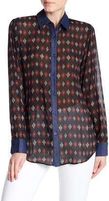 TOV Color And Contrast Blouse