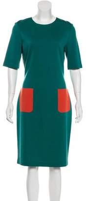 St. John Knee Length Casual Knit Dress
