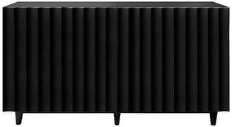 Worlds Away 4-Drawer Lacquered Scalloped Front Cabinet