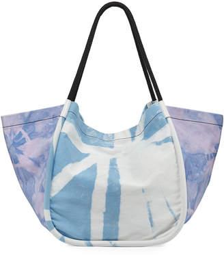 Proenza Schouler Extra Large Denim Tie-Dye Tote Bag