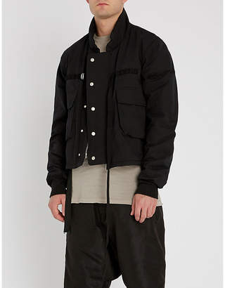 Unravel Cropped padded cotton jacket