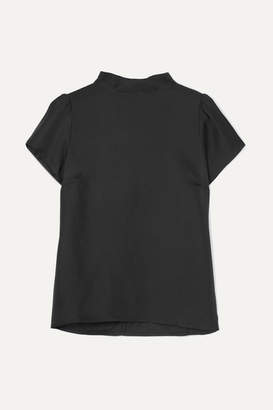 J.Crew Ritz Silk-satin Twill Top - Black