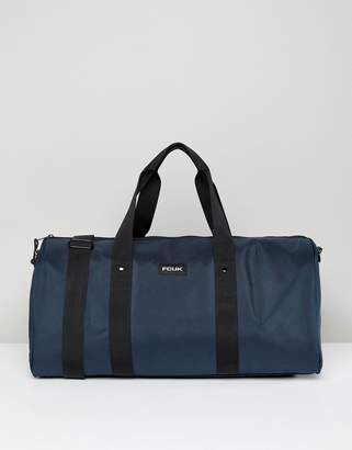 French Connection Nylon Duffle Bag In Navy