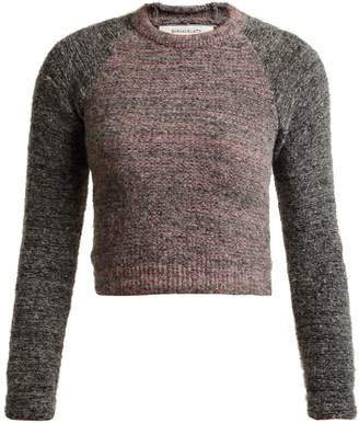 Eckhaus Latta Raglan-sleeve alpaca-blend cropped sweater