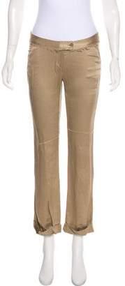 Haute Mid-Rise Silk Pants