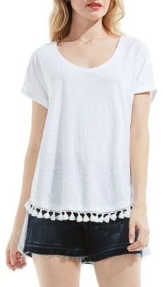Women's Two By Vince Camuto Tassel Trim Cotton Tee $69 thestylecure.com