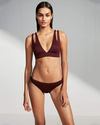 Express Low Rise Ribbed Bikini Bottoms