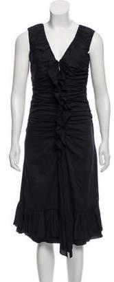 Prada Ruffled Sleeveless Dress