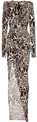 Alexandre Vauthier Leopard-print stretch-jersey gown