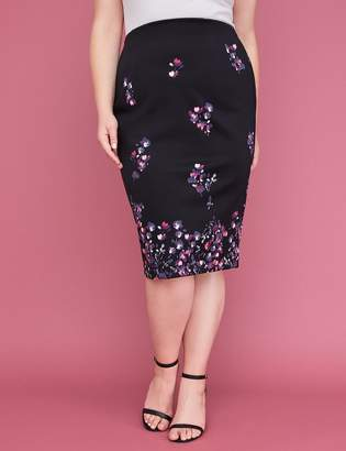 Lane Bryant Printed Scuba Midi Pencil Skirt