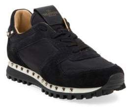 Valentino Women's Studded Suede Sneakers