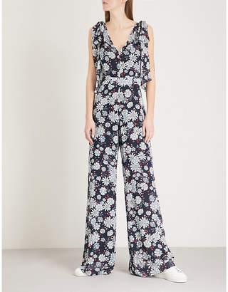Claudie Pierlot Floral-pattern chiffon jumpsuit