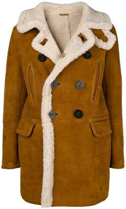 DSQUARED2 double-breasted sheepskin coat