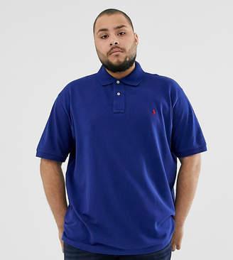 Polo Ralph Lauren Big & Tall icon logo pique polo in blue