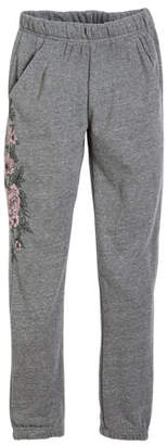 Spiritual Gangster Floral-Print Sweatpants, Size 6-14