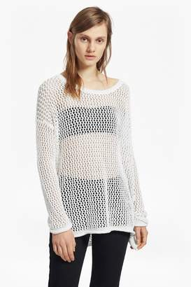 French Connection Faye Knit Fishnet Jumper