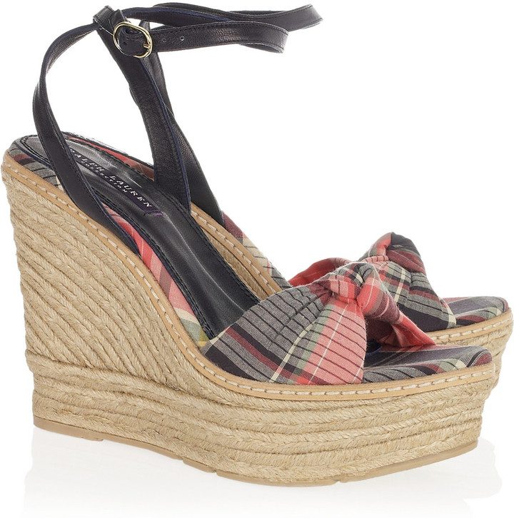 Ralph Lauren Collection Fistina espadrille wedge sandals