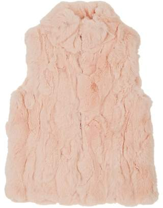 Adrienne Landau Kids' Rabbit-Fur Vest