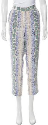 Equipment Silk Animal Print Pants