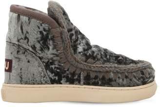Mou Mini Eskimo Velvet & Shearling Boots
