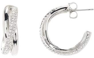 Nadri Trinity Pave Crystal 19mm Hoop Earrings