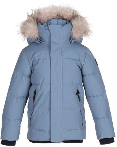 Herbert Hooded Puffer Jacket w/ Faux-Fur Trim, Size 4-12