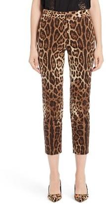 Women's Dolce&gabbana Leopard Print Ankle Pants $995 thestylecure.com