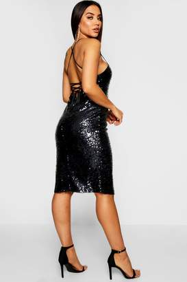 d4879c5986528 boohoo Blue Strappy Back Dresses - ShopStyle