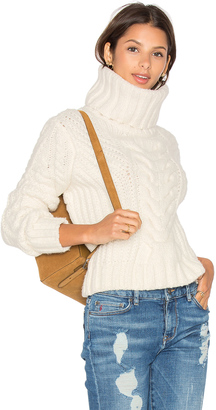 Tommy Hilfiger Gigi for Hilfiger Chunky Cable Roll Neck Sweater $225 thestylecure.com