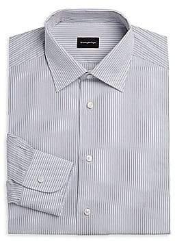 Ermenegildo Zegna Men's Thin Stripe Cotton Dress Shirt