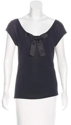 Blumarine Lace-Paneled Sleeveless Top