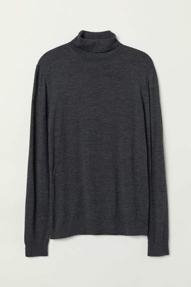 H&M - Merino Wool Turtleneck Sweater - Black