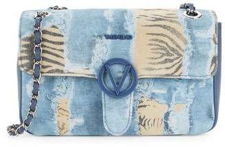 Call Of The Wild Valentino By Mario Valentino Antoinette Denim & Zebra Print Shoulder Bag