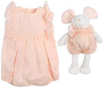 Chloé Double Cotton Muslin Romper & Toy