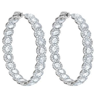 Diana M Fine Jewelry 14K 6.78 Ct. Tw. Diamond Hoops