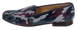 Stubbs & Wootton Camo Velvet Loafers