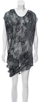 Helmut Lang Semi-Sheer Textured Dress