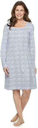 Croft & Barrow Women's Henley Nightgown