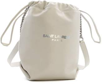 Saint Laurent Logo Drawstring Bucket Bag