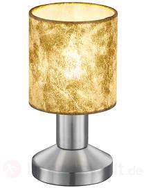 Tischlampe Garda m. Kunststoffschirm gold
